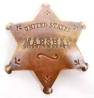 UNITED STATES MARSHAL 6 POINT STAR BADGE