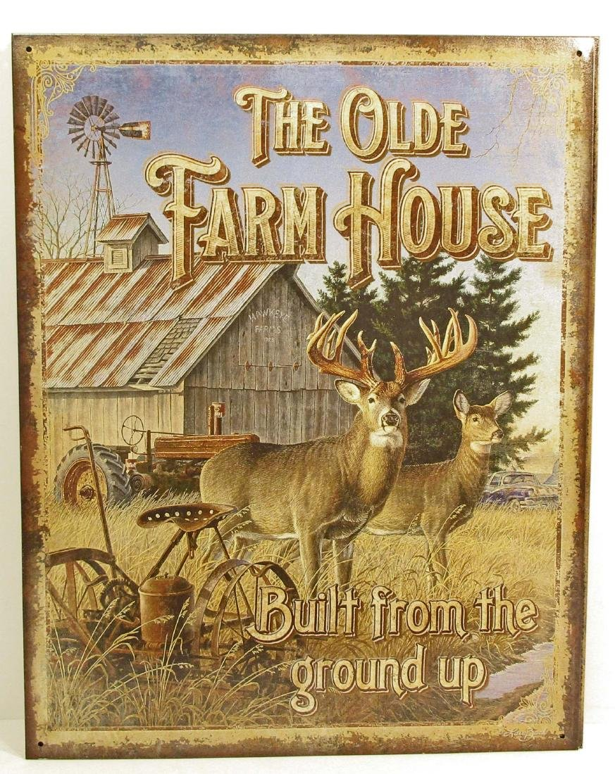 THE OLDE FARM HOUSE METAL SIGN