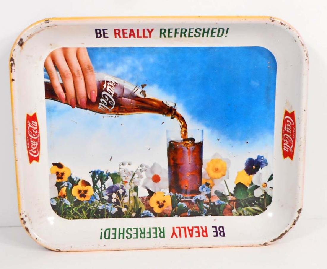 VINTAGE C. 1940'S COCA-COLA ADVERTISING SERVING TRAY