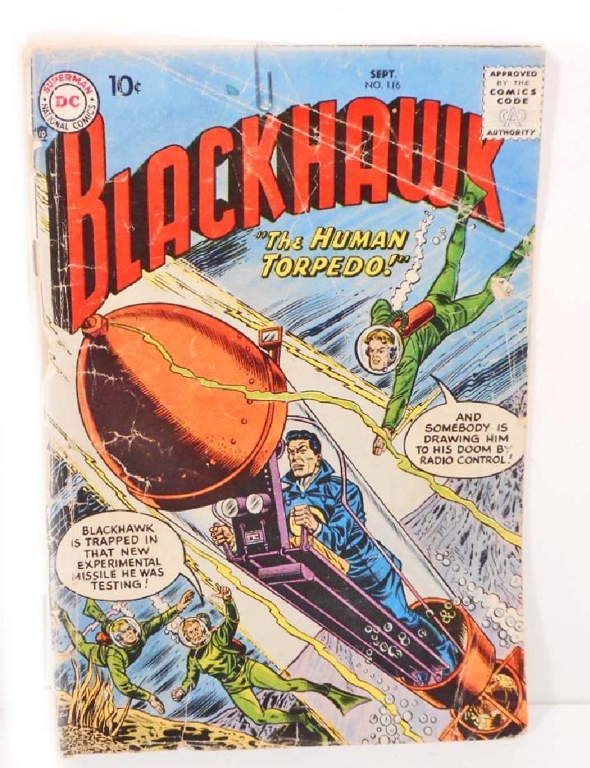1957 BLACKHAWK NO. 116 COMIC BOOK - 10 CENT COVER