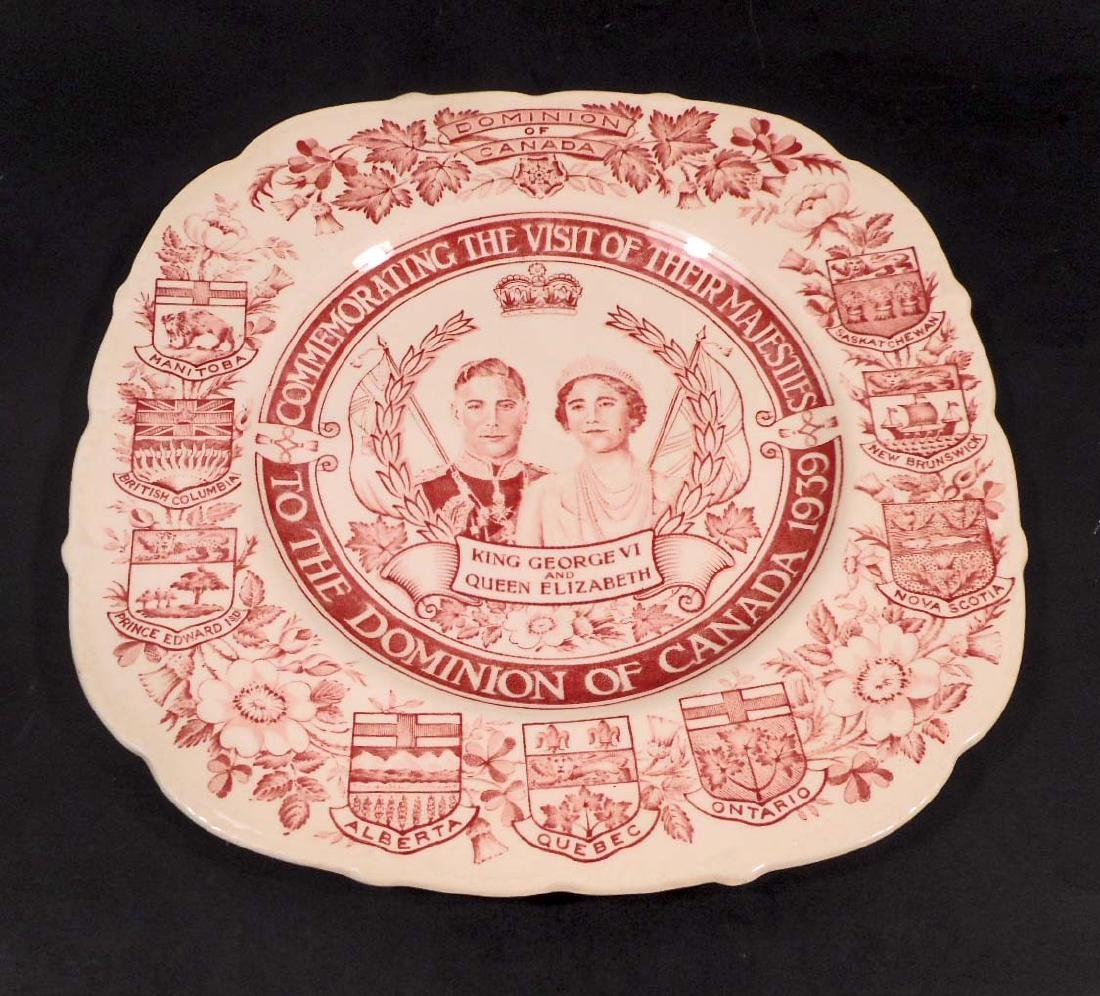 VINTAGE KING & QUEEN DOMINION OF CANADA TRANSFER WARE
