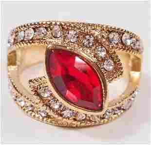 BEAUTIFUL RED GEMSTONE RING SIZE 8