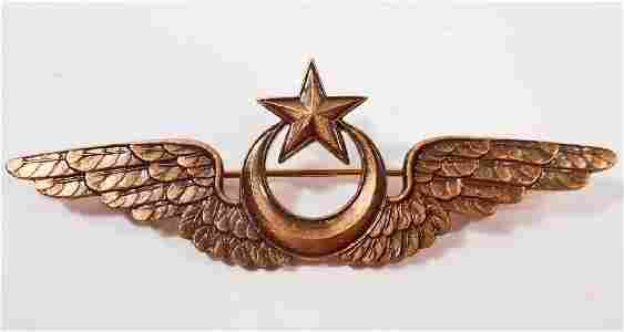 GERMAN TURKISH OFFICERS TURKEY AXIS PILOT WING