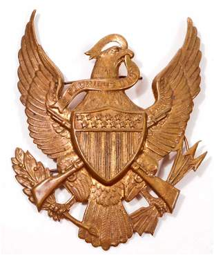 US ARMY INFANTRY PITH HELMET EAGLE FRONT PLATE