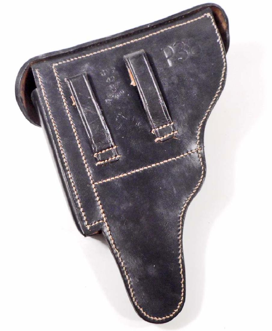 GERMAN NAZI WALTHER P-38 LEATHER PISTOL HOLDER - 5