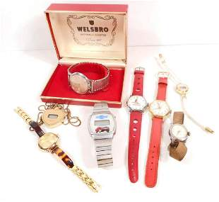 LOT OF 8 VINTAGE WRIST WATCHES