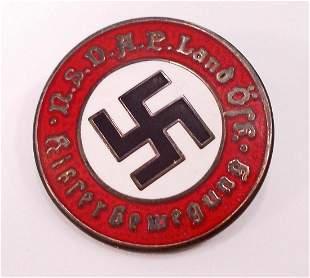 GERMAN NAZI HUNGARIAN NSDAP PARTY LAPEL BADGE