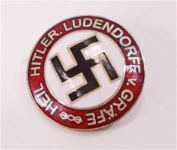 GERMAN NAZI HEIL HITLER LUDENDORFF V GRAFE PARTY LABEL