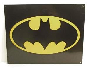 BATMAN SIGNAL METAL SIGN
