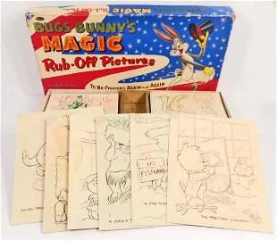 1955 WARNER BROS WHITMAN BUGS BUNNY MAGIC RUBOFF