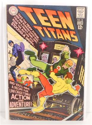 1968 TEEN TITANS NO. 18 COMIC BOOK - 12 CENT COVER -