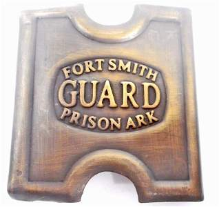 FORT SMITH PRISON GUARD BELT BUCKLE