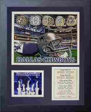 Dallas Cowboys Super Bowl Rings Framed Photo Collage