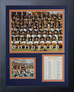 1985 Chicago Bears Framed Photo Collage 11x14Inch