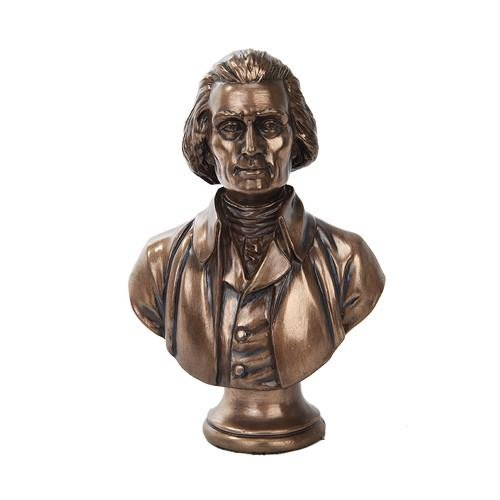 THOMAS JEFFERSON CAST BRONZE BUST