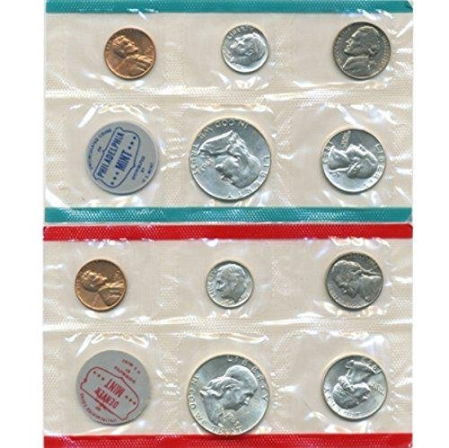 1963 P, D U.S. Mint - 10 Coin Uncirculated Set OGP