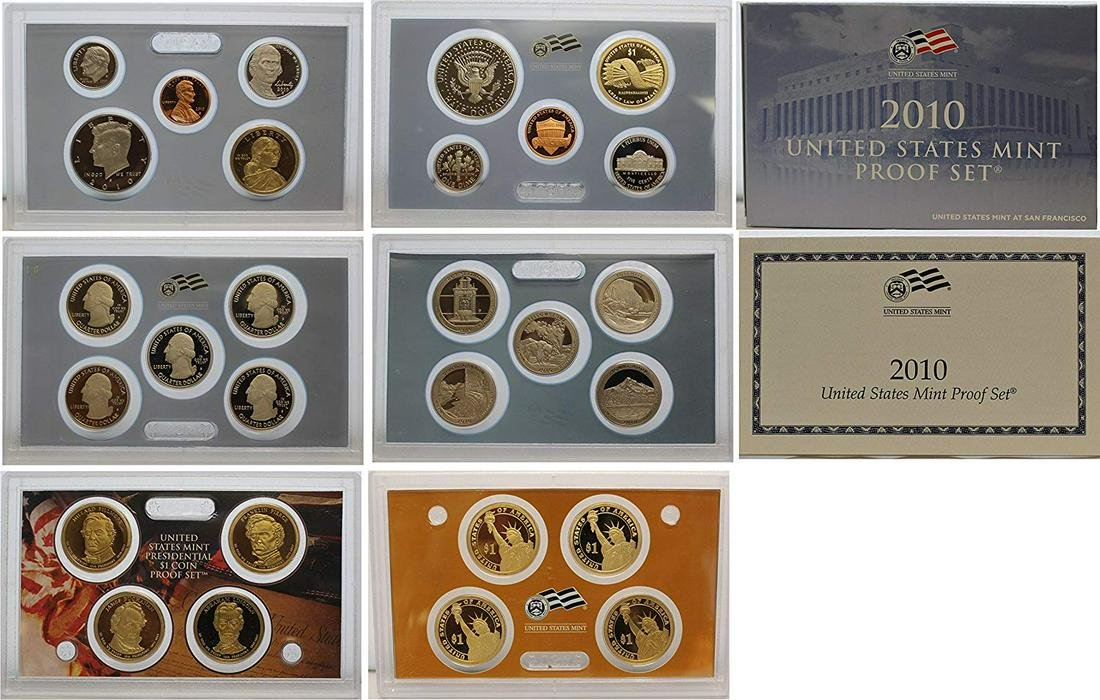2010 S Proof set Collection Uncirculated US Mint