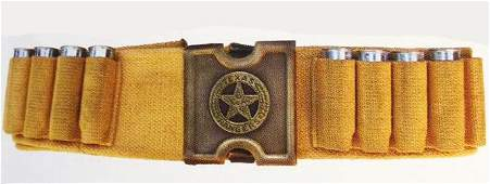 TAN WOVEN 4570 CARTRIDGE AMMUNITION BELT