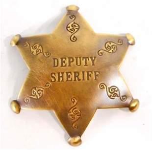 DEPUTY SHERIFF 6 POINT STAR BADGE