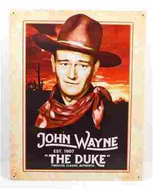 JOHN WAYNE THE DUKE METAL SIGN