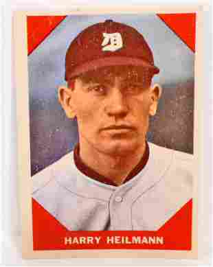1960 FLEER HARRY HEILMANN NO 65 BASEBALL GREATS CARD
