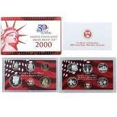 2000 S US Mint Silver Proof Set Set Uncirculated