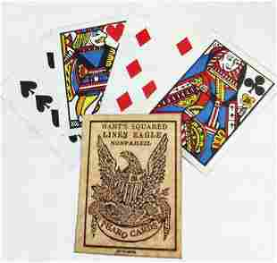 OLD WEST PHARO POKER CARDS W SQUARE CORNERS
