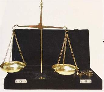 FOUR OUNCE SOLID BRASS GOLD SCALE