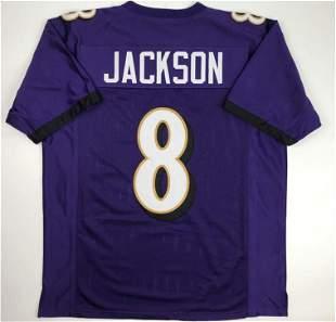 Lamar Jackson Baltimore Purple Custom Stitched Football