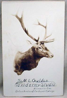 1: C. 1938 ADVERTISING POSTCARD FOR THE M.L. GULDEN TAX