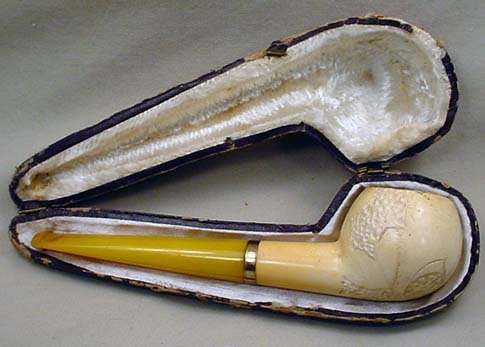 2: ANTIQUE MEERSHAUM PIPE W/ CASE