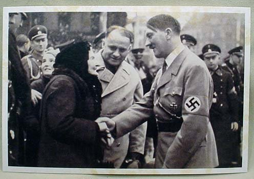 8: WW2 GERMAN NAZI ADOLF HITLER PHOTO POSTCARD