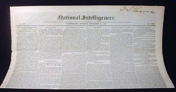 15: 11-4-1851 NEWSPAPER - TREATY W/ CHIPPEWA INDIANS, O