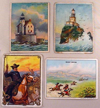 17: LOT OF 4 VINTAGE HASSAN CIGARETTE CARDS INCL. TILAM