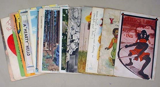 19: LOT OF 15 VINTAGE BLACK AMERICANA POSTCARDS