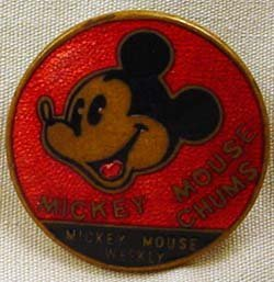 25: C. 1930'S DISNEY MICKEY MOUSE WEEKLY PINBACK BUTTON