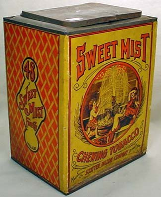 "27: ANTIQUE SWEET MIST CHEWING TOBACCO ""TIN"" / BOX - LA"