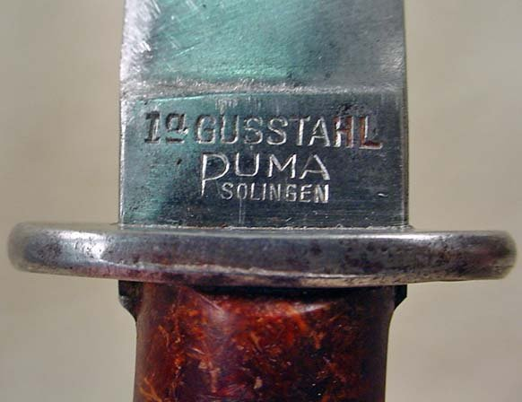 261: RARE WW2 NAZI GERMAN BOOT KNIFE W/ METAL SCABBORD  - 2