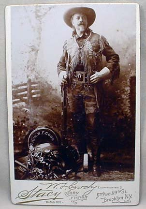 366: ANTIQUE CABINET CARD PHOTO OF W.F. BUFFALO BILL CO