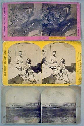 1: LOT OF 3 ANTIQUE STEREOVIEW CARDS