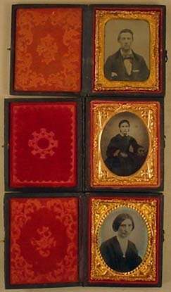 6: LOT OF 3 ANTIQUE AMBROTYPE PHOTOS