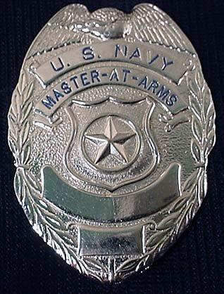 8: U.S. NAVY MASTER AT ARMS BADGE