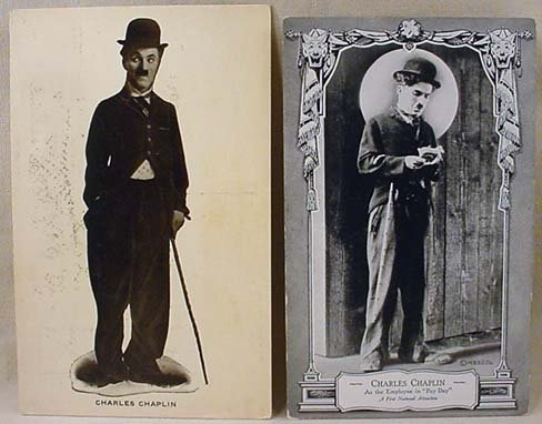 9: LOT OF 2 EARLY 1900'S CHARLIE CHAPLIN PHOTO POSTCARD
