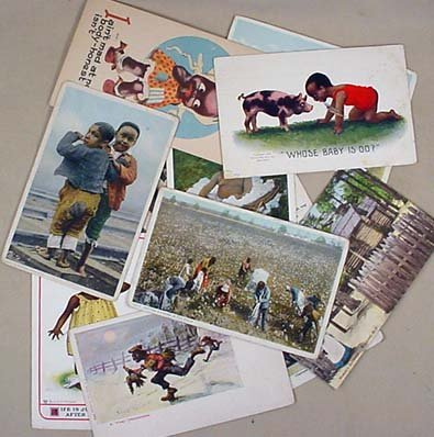 12: LOT OF 11 EARLY BLACK AMERICANA POSTCARDS INCL. 189