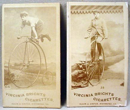 21: 2 C. 1880'S ALLEN AND GINTER VIRGINIA BRIGHTS CIGAR