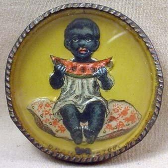 101: ANTIQUE BLACK AMERICANA EMBOSSED DEXTERITY PUZZLE