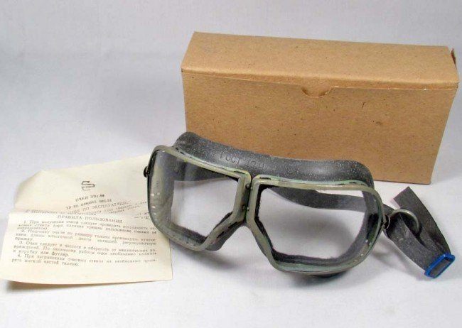 3: PAIR OF RUSSIAN PILOT/MOTORCYCLIST/TANKER GOGGLES
