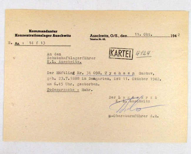 23: 1924 WW2 GERMAN HOLOCAUST CONCENTRATION CAMP AUSCH