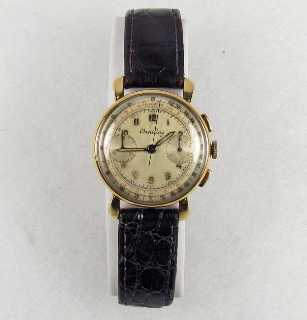 182: C. EARLY 1950'S BREITLING MENS WRIST WATCH