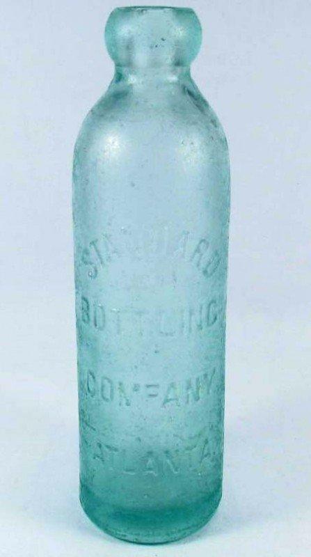 3: EARLY HUTCHINSON SODA BOTTLE - STANDARD BOTTLING CO.